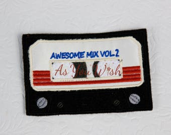Gaurdian Galaxy Awesome mix tape iron on patch