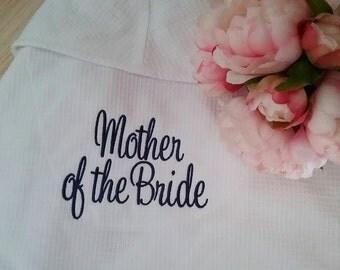 Personalised Robe; Wedding Robe; Personalised Wedding Robe; Bridal Robe; Bride dressing gown; Robe; Waffle Weave robe; bridesmaid robes