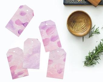 Purple DIY Printable Tags Lavender Lilac Tags Downloadable Gift Tags Digital PDF Gift Tag Wedding tag Set Birthday Party Bridal Shower