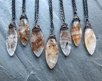 Super Seven Necklace - Rutilated Quartz Necklace - Super 7 Jewelry - Melody Stone Jewelry - Super Seven Jewelry - Melody Stone Necklace