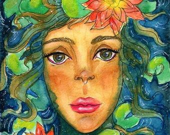 "Original Watercolor 6x8"" - Florentina"