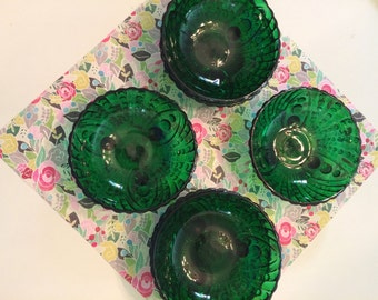 Green Bubble Glass Bowl set