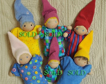 Just 2 Babies left! Fretta's  Waldorf Baby Bunting Dolls, Mini Babies, child first dolls, Bunting Waldorf Baby