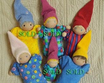 Just 2 Babies left! Fretta's Waldorf Baby Bunting Dolls, Mini Babies, child first dolls