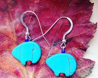 Spirit of the Bear Sterling Silver Earrings
