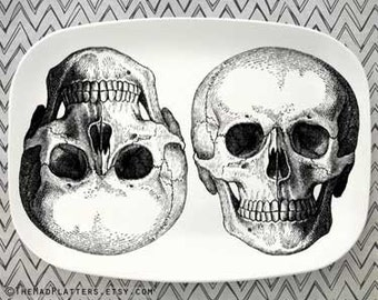 skulls II melamine platter