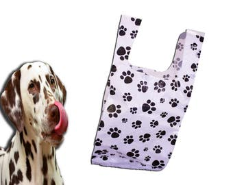 8x16 PawPrint Plastic Merchandise Bags, Paw Print T-Shirt  Bags, Craft show Bags,  Animal Print Retail Plastic Bags (50Pack)