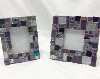 Small Mosaic Picture Frames - Set of 2