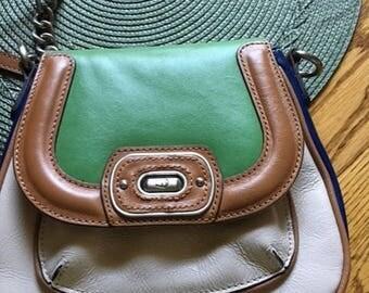 Vintage Etienne Aigner Multi Color Shoulder Bag