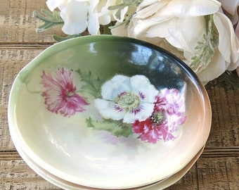 Gorgeous Antique Bavarian Small Bowls, Set of 3, Tea Party, Small, Wedding, Dessert Bowls, Cottage Style, Victorian