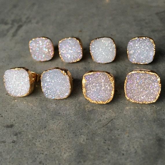 Druzy Earrings, boho jewelry, wedding jewelry, bridesmaids jewelry