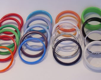 Group of Twenty One Plastic Colorful Bangle Bracelets Perfect for Birthday Parties