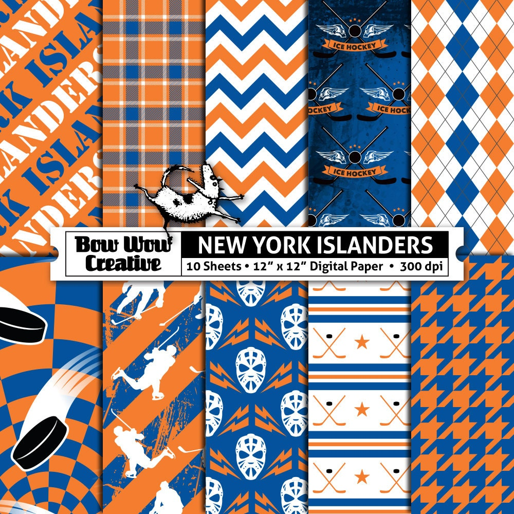 New York Islanders Wallpaper: 10 New York Islanders Digital Papers For Scrapbooking