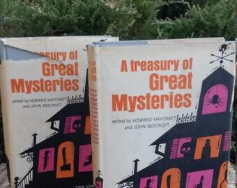 A Treasury of Great Mysteries edited by Howard Haycraft and John Beecroft