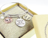 Personalize Teacher Name Custom Bangle - Teachers Day Gift - Gifts for Teachers - Teacher Appreciation Day - Hand Stamped Stacking Bangles