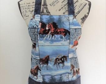 Horses in Winter Apron