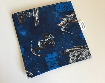 Reusable Snack & Sandwich Bag, Star Wars Ships, Eco-Friendly