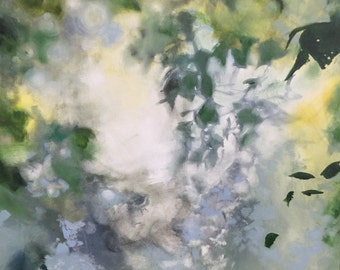 """Modern Art-- Archival Print of original oil painting-- """"Trees on Thursday"""""""