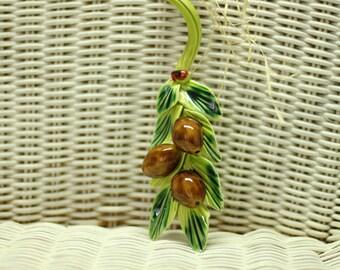 Ceramic Fruit, Hand Made, Wall Hanging, Ceramic Olives, Home Decor,