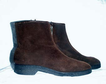 Suede 1970s Brown Lined Boots