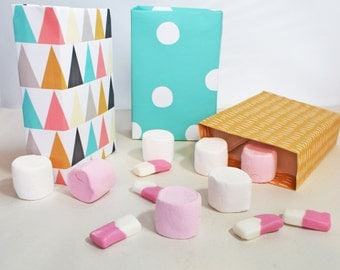 Set of 6 DIY Believe in Magic Pastel Gift Sweet Bags and Party Favours