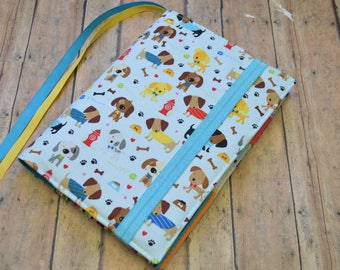 Bullet Journal Cover - in Riley Blake Rover fabric - F3