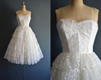 Katie / 50s wedding dress / vintage 1950s wedding dress