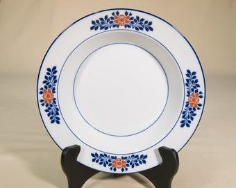 8 pc. Dansk Floral Bowls   Porcelain Dinnerware Set Bowls   Red Flowers on Rim