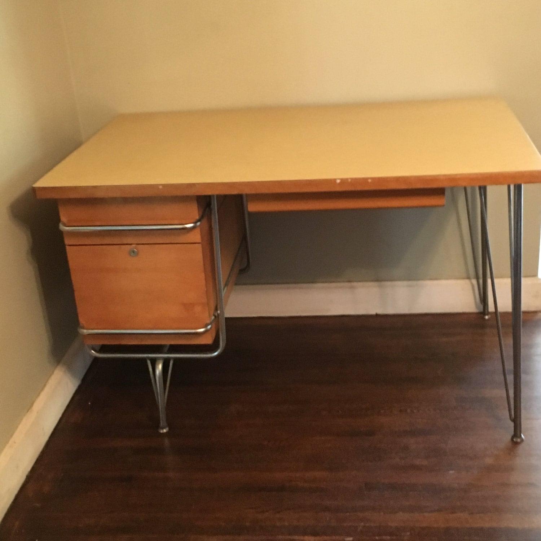 Mid century Kem Weber Heywood Wakefield Trimline Desk