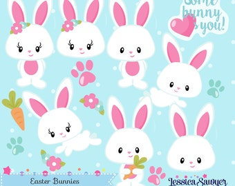 INSTANT DOWNLOAD - Easter Bunny Clipart and Vectors for personal and commercial use
