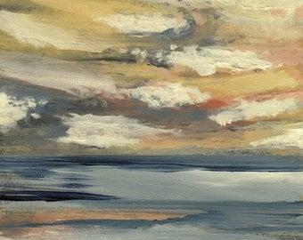 Pacific Mini Sunset #2- Original Acrylic Painting