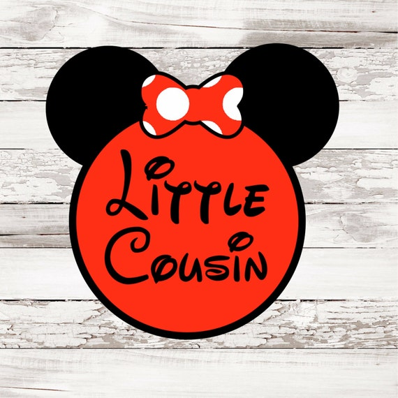INSTANT DOWNLOAD Disney Little Bow Girl Cousin Printable DIY Iron On to Tee T-Shirt Transfer - Digital File