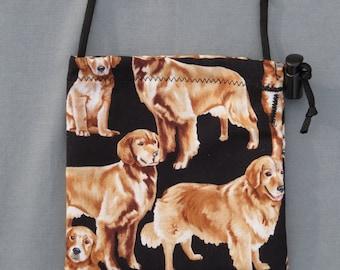 Golden Retriever   Dog  Treat Pouch on Black