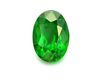 1.14ct Tsavorite Green Garnet Oval Shape Loose Gemstones (Watch Video) Free Shipping SKU 347A001