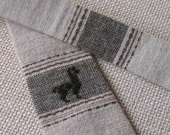 Vintage Hand Made Peruvian Alpaca Necktie, Llama Tie, Made in Peru