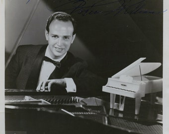 "Roger Williams Hall of Fame Pianist Autographed Photograph 8""x10"""