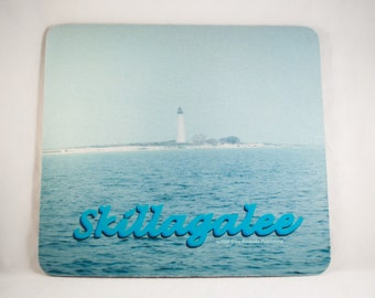 Mousepad, Lake Michigan Lighthouse Design 3, Office Décor, Photograph, Artistic, Office Accessory