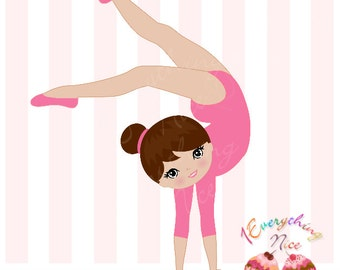 Gymnast Girl Clip Art