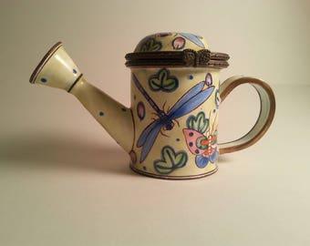 Kelvin Chen Miniature Teapot Watering Can Butterflies Dragonflies