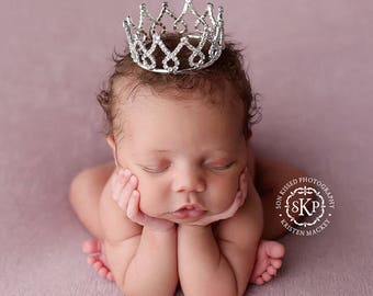 Newborn Crown - princess crown - Photo Prop | Tiara, newborn photo prop - Finn/Fiona