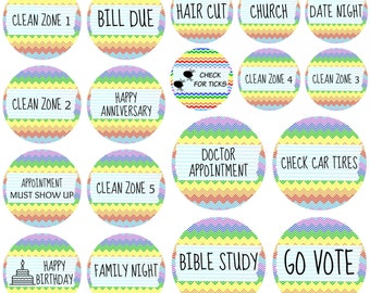 "Planner Sticker Sampler with 12 Dozen Stickers - 3/4"" Round Stickers"