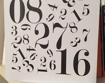 Calendar Date Greeting Card - Date is customizable for any occasion (Wedding, Anniversary or Birthday, etc.)!