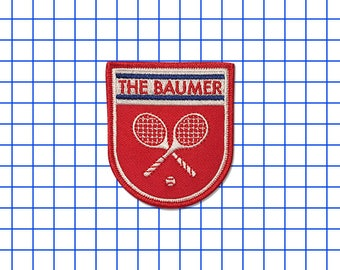 25% off Wes Anderson inspired The Royal Tenenbaums The Baumer iron-on fan patch