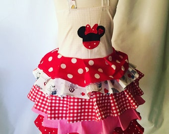 Minnie Mouse,Valentine's, ruffle dress,OTT, Pageant Wear, Boutique Style size Ruffle dress 6, 12 24 months, size 2 3 4 5T