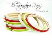 Felt Covered Embroidery Hoops   Wooden Embroidery Hoop   Quilting Hoop   Colored Hoops   Wrapped Hoops   Hoop Gift