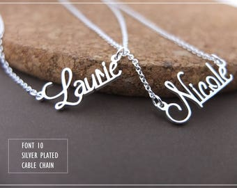 Name Necklace-Custom Name Necklace-Personalized Name Necklace-Custom Name Gift-Your Name Necklace-Bridesmaids Jewelry-Children Names #NF10