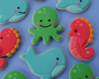 Sea Creatures Cookie Cutter Set - Octopus, Seahorse, Whale