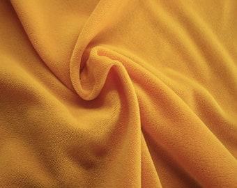 "Yellow Non-Stretch Velvet Fabric 45/46"" Wide Per Yard"