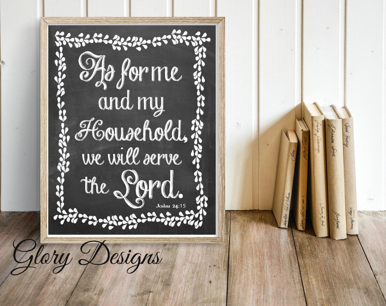 printable wall decor bible verse wall art scripture art as. Black Bedroom Furniture Sets. Home Design Ideas