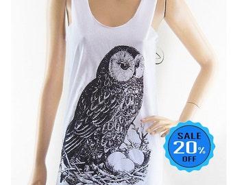 size S - Owl Eggs shirt owl tee funny hipster tshirt tumblr quote shirt gift shirt fashion t shirt cool graphic tee women top screen print